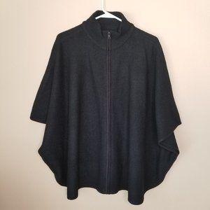 Women's Sweater Anne Klein Black Poncho XL Wool Bl
